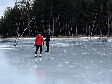 Skating on Beaver Ponds - M Campbell