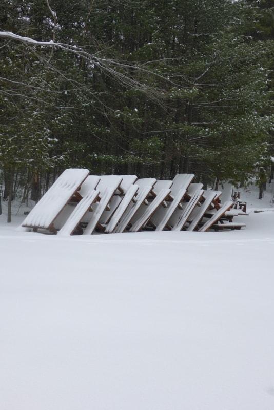 Picnic Area in Winter